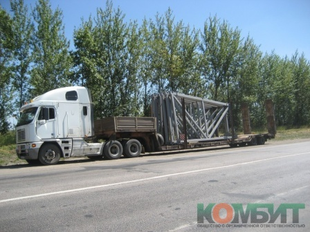 Перевозка металлоконструкций по маршруту Старый Оскол - Верхняя Хава