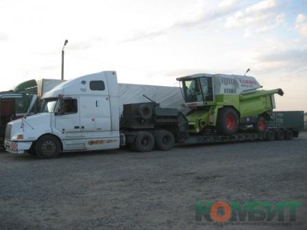 Перевозка зерноуборочного комбайна Claas по маршруту Краснодар - Пенза
