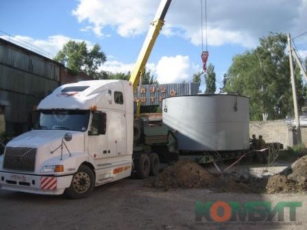 Перевозка емкости диаметром 5,6 м
