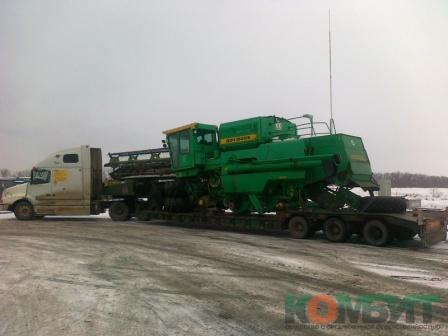 Перевозка зерноуборочного комбайна Дон 1500