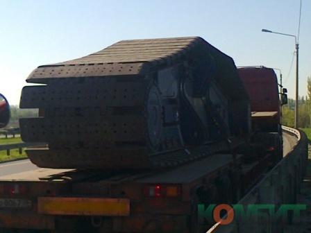 Перевозка гусеницы крана Liebherr. Вес 45 тонн