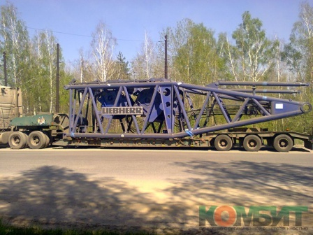 Перевозка частей крана Liebherr грузоподъемностью 750 т